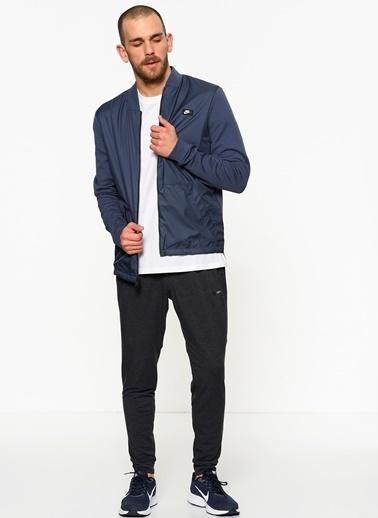 Nike Fermuarlı Sweatshirt Mavi